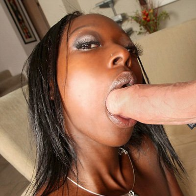Ebony sucking huge white cock